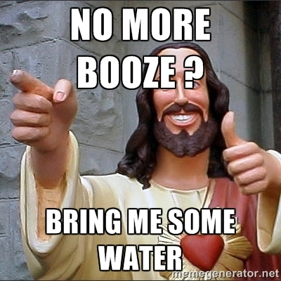 Jesus + booze